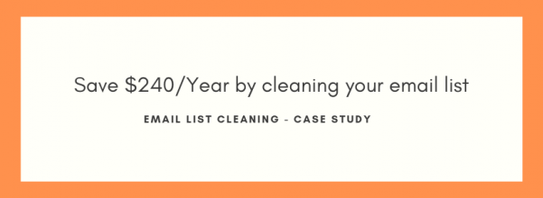 How to clean email list - Case study