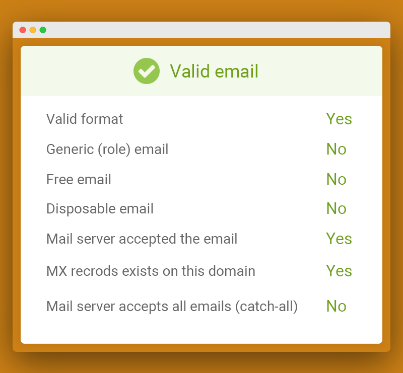 What is valid email account-bulk email verification