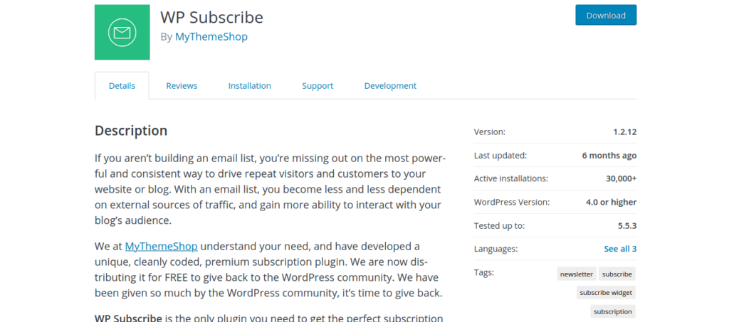 Free WPSubscribe tool