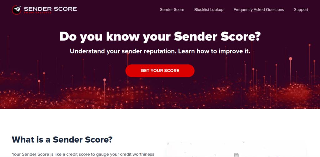 check your sender score