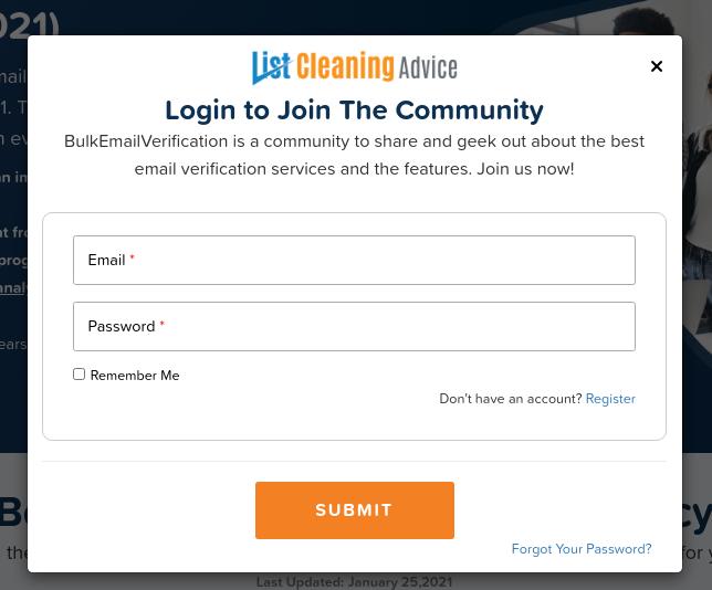 Login at ListCleaningAdvice
